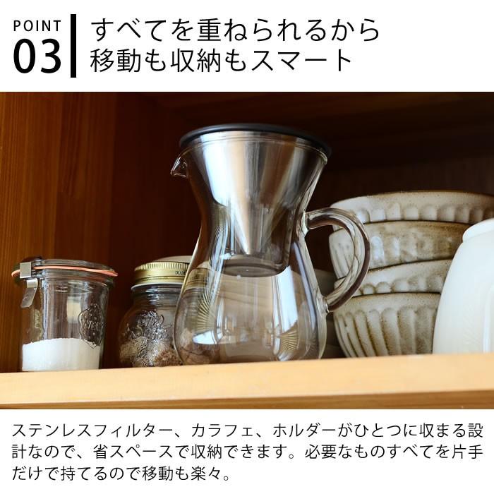 キントー SLOW COFFEE STYLE コーヒーカラフェセット ステンレス 300mlの商品画像|4