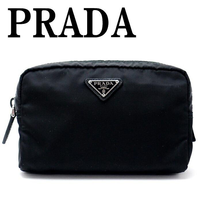 999dc420d25b プラダ PRADA ポーチ コスメポーチ 化粧ポーチ 小物 ロゴ 1NA021-2BQP ...