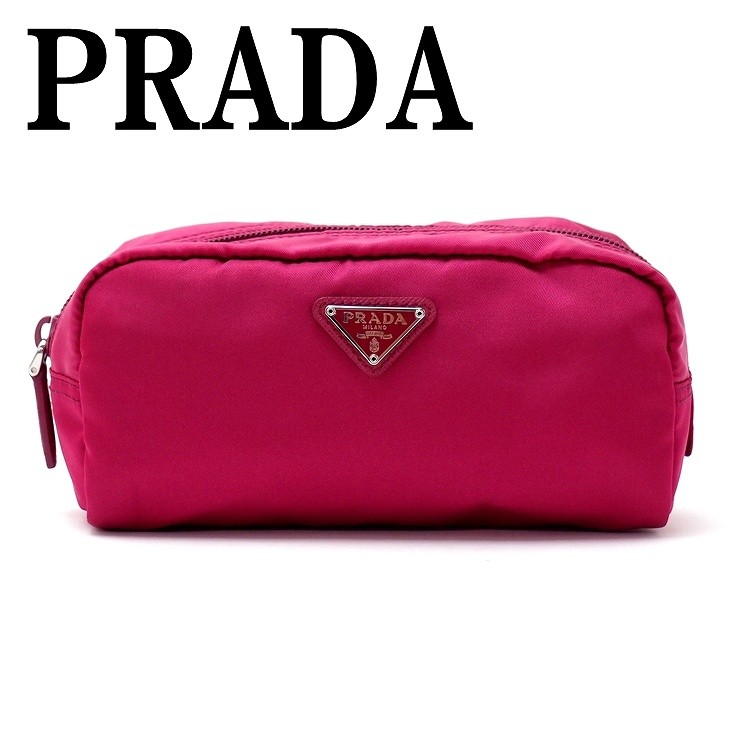 ea611aa16db7 プラダ PRADA ポーチ コスメポーチ 化粧ポーチ ピンク 小物 ロゴ 1NA350 ...
