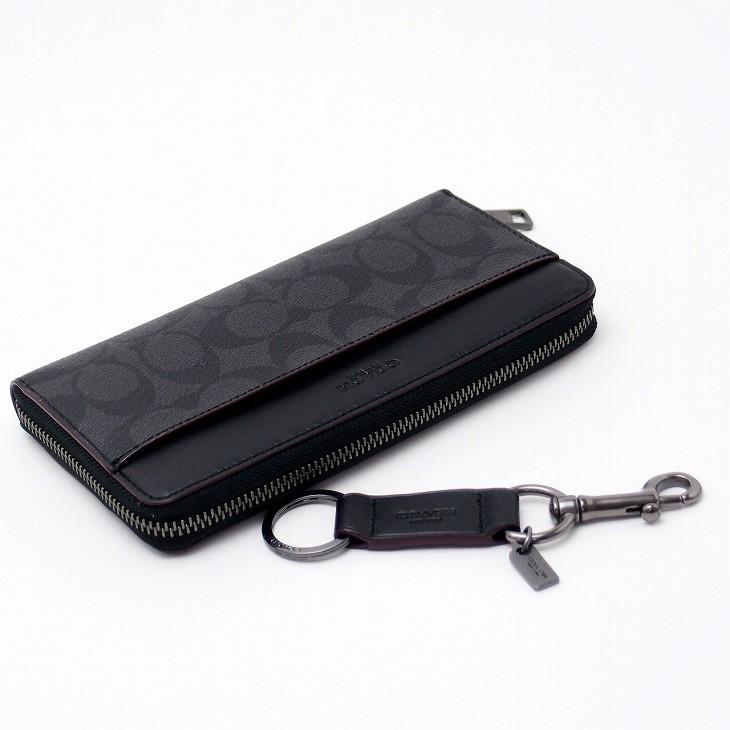 626e87e7a761 コーチ(COACH)。男性の贈り物に迷ったらコレ! デキる男は揃えて使う。キーホルダーと長財布。