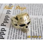 ブラスシンプルスカルリング(1)15号・17号・19号・21号・23号・25号/ドクロ金色指輪金色真鍮 (メイン)