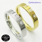 ステンレス リング(30)CZ 選択可 金色 銀色 09号 10号 12号 13号 15号 16号 18号 19号 メイン 316L 指輪シンプル  ニッケルフリー