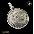 本物のオランダのコインペンダント(1)/ヨーロッパ・コイン・硬貨・ペンダント・ネックレス