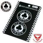 エースカフェロンドン 丸ロゴ ステッカー デカール シール (2枚入り) 11ace-n004de
