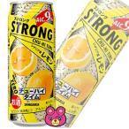 サンガリア ストロングチューハイタイムゼロ レモン 缶500ml×24本入(お酒)