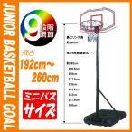 バスケットボール ゴール ジュニア用自立式 ミニバスサイズ 9段階高さ調節式 ミニバスケットゴール 練習用 屋外