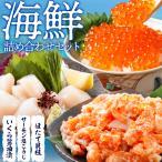 海鮮詰め合わせセット2(北海道産いくら醤油漬け150g・ほたて貝柱300g・サーモン塩こうじ300g) 送料無料
