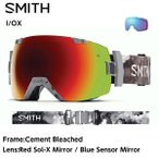 15-16SMITH【I/OX Cement Bleached】Red Sol-X Mirror/Blue Sensor Mirror