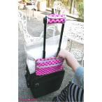 ピンクエレファント プラスオンポーチ スリム (旅先で!スーツケースの上に増えた荷物を乗っけて楽々運べます!外せば貴重品用ポー