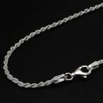 (50cm 1.9mm) フレンチ ロープ チェーン ネックレス