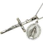 メンズ ネックレス シルバーネックレス クロスネックレス 十字架 マリア像 メンズネックレス