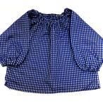 お子様スモック袖付(約70〜80cm) (ブルー) (長袖 幼稚園 保育園 子供用 キッズ用)