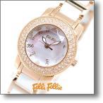 フォリフォリ FolliFollie  ジルコニア  レディース 腕時計 WF2B029BSP