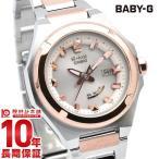 BABY-G ベビーG 電波 ソーラー レディース 白 G-MS 腕時計 メタル タフソーラー カシオ ベビージー CASIO ホワイト MSG-W300SG-4AJF アナログ