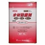 吉田製油所 クレオソートに代わる木材防腐剤 クレオトップ 16L缶  ブラウン