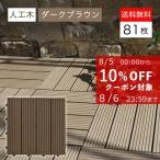 ウッドパネル ウッドデッキ ウッドデッキパネル 人工木 樹脂 (81枚セット) ダークブラウン クレアーレST2 デッキパネル ウッドタイル