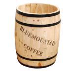 ショッピングプランター コーヒーバレル30 大サイズ 直径30cm コーヒー樽 木製プランター ディスプレイ CB-3040N