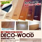 裏紙をはがして簡単に床・壁に張れる粘着剤付ウッドタイル