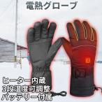 電熱手袋 電熱グローブ 充電式 バッテリー付き 3段温度可調整  裏起毛 ヒーターグローブ 寒さ対策 バイク 現場作業 アウトドア用 男女兼用