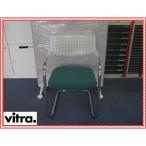 (中古) Vitra/ビトラ ビザビ2 ミーティングチェア 座面グリーン 幅545mm 奥行き550mm 高さ795mm 座面高さ465mm スタッキングチェア パイプチェア パイプイス