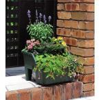 段々花壇プランター 45型グリーン  45×39.5×29cm 土容量約15L ホームセンター