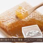 お得な3個セット 新食感 蜂の巣形のハチミツ  コームハニー 340g (プラスチック容器)