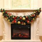 クリスマス ガーランド クリスマスリース クリスマス飾り 1.5m クリスマスツリー 飾り パーティー装飾藤 クリスマス オーナメント クリスマスツリー装飾 部屋