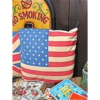 アメリカン雑貨 フラッグ レトロ クッション USA 星条旗-AK0003-