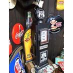 アメリカン雑貨 おもしろ ユニーク グッズ ROUTE66 ガスポンプ型 レトロ CDラック DVDラック 本棚 ショーケースL-AK0012