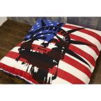 アメリカン雑貨★フラッグ レトロ クッション LIBERTY USA 星条旗-AK0177