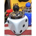 おもしろ ユニーク グッズ サイコロ灰皿 アッシュトレイ WHITE-AR0003