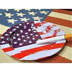 アメリカン雑貨 星条旗グッズ ティン アッシュトレイ 灰皿 小物入れ-BS0099