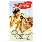 アメリカン雑貨★コカコーラ グッズ ポスター Coca-Cola Refreshment-HS0419