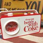 アメリカン雑貨★コカコーラ グッズ coco cola Radio&Alarm Clock Things レトロ ラジオ アラームクロック 時計 置時計-HS0461