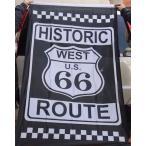 ルート66★アメリカン雑貨★ROUTE66 グッズ フラッグ 旗 HISTORIC タペストリー ポスター-LC0021