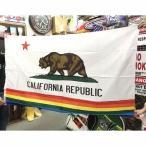 アメリカン雑貨★アメリカン フラッグ 旗 CALIFORNIA REPUBLIC レインボー タペストリー ポスター-LC0022