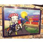 ベティ・ブープ★アメリカン雑貨★ベティちゃん グッズ ブリキ看板 メタルサイン ベティ・ブープ デイトナバイク Betty Boop-MD0011