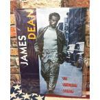 アメリカン雑貨★ブリキ看板 メタルサイン James Dean ジェームス ディーン アメリカの伝説-MD0024