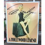 アメリカン雑貨【アメリカ買付品】ブリキ看板 メタルサイン Marilyn Monroe マリリン・モンロー-US0522