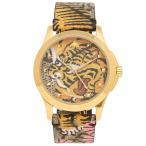 グッチ 腕時計 メンズ GUCCI YA1264008 ブラウンマルチカラー イエローゴールド