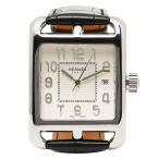 エルメス 腕時計 HERMES CD1 890 670 MNO ブラック ホワイト