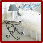 ナイトテーブル サイドテーブル ソファテーブル(salatia) ホワイト(white) (ロマンティック) ヨーロピアン 姫系 クラシック ロートアイアン