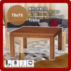 カジュアルコタツ こたつ 炬燵 継脚 テーブル 机 つくえ センターテーブル ローテーブル : 幅105Trelis(トレリス) ブラウン(brown) (ナチュラル)