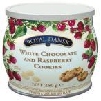 (同梱・代引き不可)ロイヤルダンスク ホワイトチョコ&ラズベリークッキー 250g 12セット 011061