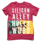 マークバイマークジェイコブス Tシャツ MARCBYMARCJACOBS 半袖 SILICON ALLEY HOLLY WOOD S/M/Lサイズ レッド MJ SILICON ALLEY TSHIRT