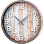 のし無料_リムレックスインテリア電波掛時計 ナタリーブラウンW-658BR-Z【B3009027】