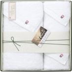 50%割引 矢野紋織謹製白たおる今治バスタオル&フェイスタオル2P【L1053556】
