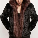 毛皮コート ファーコート メンズ ショットコート ミンク フェイクファー フード付き おしゃれ 上着 暖かい 秋冬 防寒 高級素材 メンズファッション