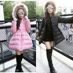 コート(女の子用) 子供服 女の子 無地 ダウンコート 中綿コート フード付き ジャケット キッズコート  キッズ服 女の子服 アウター 中綿 ロングコート