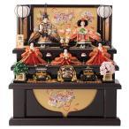 ひな人形 雛人形 コンパクト 収納飾り 三段飾り 五人飾り fzcp-45r1371skb-2
